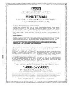 2017 Scott Minuteman Album Supplement