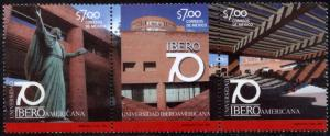 MEXICO 2812, Iberoamericana University 70th Anniv MINT, STRIP OF THREE. NH. VF.