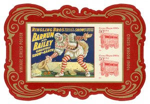 Scott 4905c 2014 $2 Circus Poster Souvenir Sheet Mint VF NH Cat $9