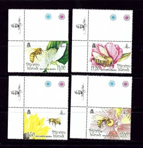 Pitcairn Is 670-73 MNH 2008 Bees and Flowers