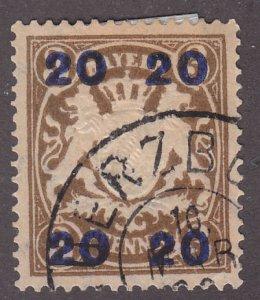 Bavaria 237 Arms of Barvaria O/P 1920