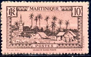 Village of Basse-Pointe, Martinique stamp SC#138 mint