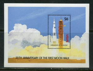 ST.VINCENT GRENADINES APOLLO 11 20th ANNIVERSARY OF THE MOON LANDING S/S MINT NH
