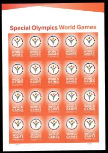 US 4986 Special Olympics World Games Forever Sheet MNH 2015