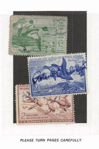 Lot of 14 U.S. Used Duck Stamps Scott Range # RW16 - RW44 #141416 R