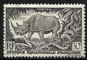 French Equatorial Africa 1946 Scott# 167 MH (thin)