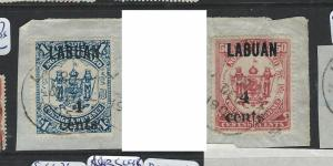 LABUAN (P2201B) SG 136-7 ON PIECES  VFU