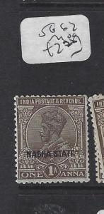 INDIA  NABHA   (P2508B)   KGV   1A   SG 62       MOG