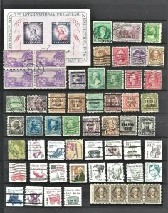 U.S.A very nice mixed collection from old album,stamps as per scan