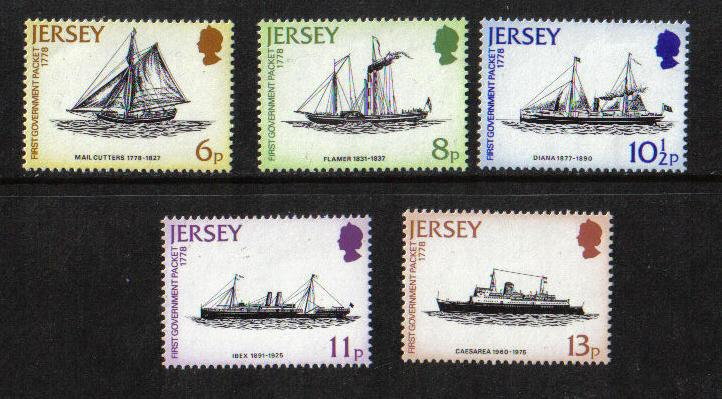 Jersey  1978  MNH  Mail packet service 200 years ships