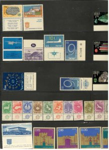 ISRAEL COLLECTION ON STOCK SHEETS, ALL MINT