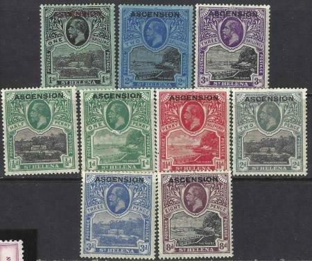 Ascension 1922 SC 1-9 MLH SCV $438.00 Set