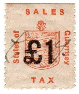 (I.B) Guernsey Revenue : Sales Tax £1 (German Occupation)