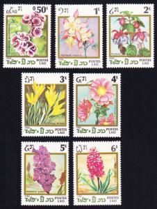 Laos Flowers 7v SG#876-882 SC#677-683