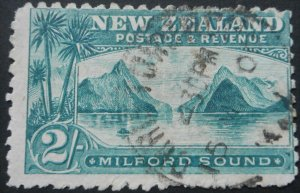 New Zealand 1899 Two Shillings p11 (no watermark) SG 269 used
