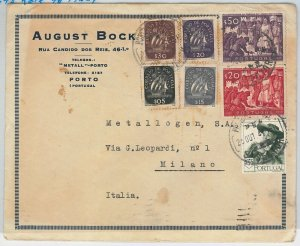 50864  -  PORTUGAL  -  POSTAL HISTORY  -  COVER to ITALY 1947