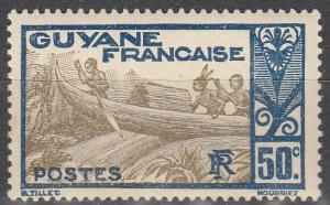 French Guiana #124 F-VF Unused (V4098)