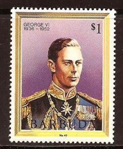 Barbuda  #  624  Mint  N H.       A