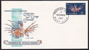 NEW HEBRIDES 1967 60c Fish commem FDC.....................................68407A