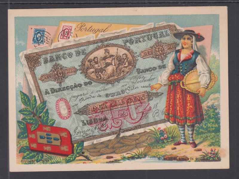 Bognard, Paris #21 circa 1900 Stamps & Banknotes of Portugal Card