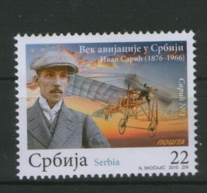 SERBIA-MNH**-STAMP-ONE CENTURY OF AVIATION IN SER-2010.