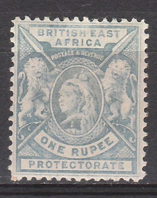 BRITISH EAST AFRICA 1896 QV LIONS 1R