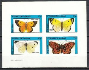 Eynhallow, 1982 Scotland Local issue. Butterfly IMPERF sheet. E8