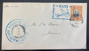 1929 Port Au Prince Haiti First Flight Airmail Cover To Prince Jeremie