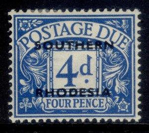 SOUTHERN RHODESIA GVI SG D5, 4d blue, M MINT.
