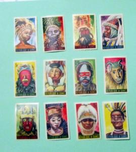 Guinea - 361-71, C68, MNH Set. Niamou Masks . SCV - $13.05