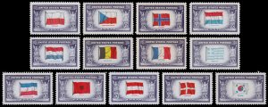 United States Scott 909-921 Full Set of Singles (1943-44) Mint NH VF K