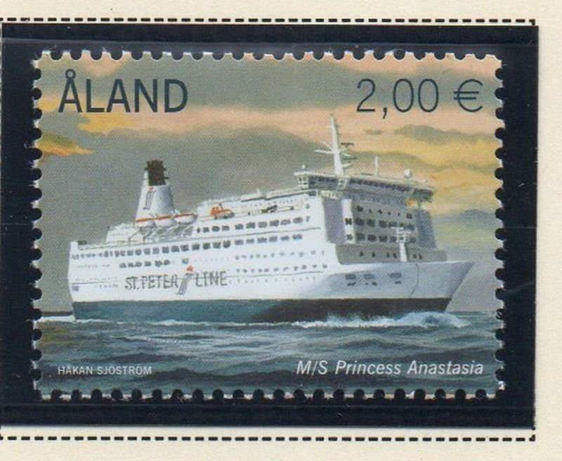 Aland Finland Sc 347 2013 Ferry Princess Anastasia stamp set mint NH
