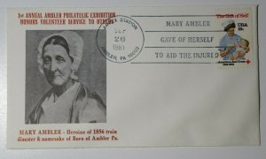 AMPEX Honors Volunteers Service To Others Mary Ambler Ambler PA Philatelic Cover
