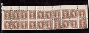 Canada #232 VF Mint Plate #10 Upper Center Block Of Twenty