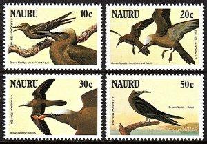 Nauru 313-316, MNH. John Audubon's birds. Brown noddy, 1985