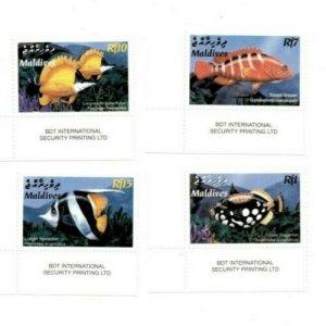 Maldives MNH Set Of Beautiful Fish LOOOOOOK!!!!!