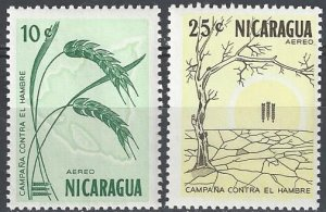 Nicaragua C521-2  MNH  FAO Freedom From Hunger 1963