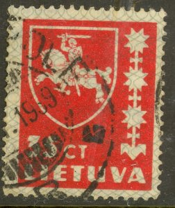 LITHUANIA 1937-39 35c ARMS Issue Sc 303 VFU