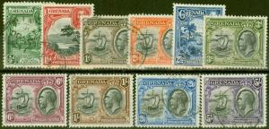 Grenada 1934 set of 10 SG135-144 Fine Used