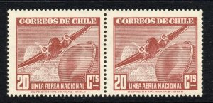 Chile 1941 AIR Early Issue Fine Mint Shade of 20c. NW-13679