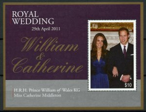 Fiji Royalty Stamps 2011 MNH Royal Wedding Prince William & Kate 1v M/S