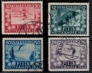 Austria  SC B106-B109 Used 1933 SCV$ 168