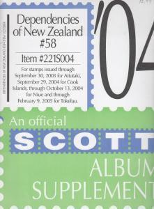 Scott Album Supplement Dependencies of New Zealand #58 2004