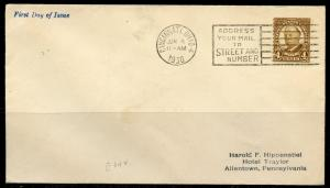 1930 TAFT  CINCINNATI JUNE 4th    FDC AS SHOWN SCOTT#685