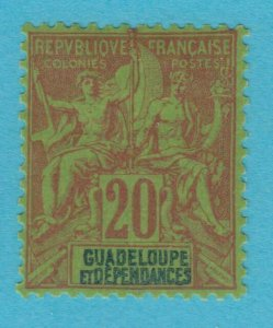 GUADELOUPE 36 MINT HINGED OG *NO FAULTS VERY  FINE !