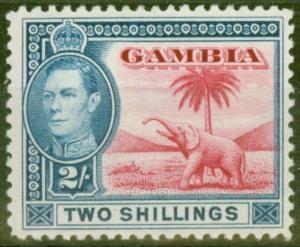 Gambia 1938 2s Carmine & Blue SG157 V.F MNH