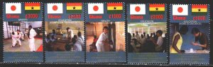 Ghana. 2002. 3511-15. Education, Judo, Computer. MNH.