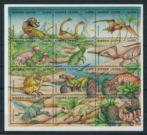 [106344] Sierra Leone 1995 Prehistoric animals dinosaurs Sheet MNH