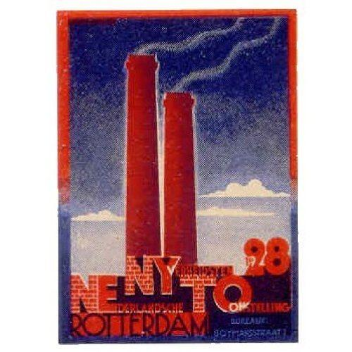 Netherlands 1928 NENYTO Industrial Expo Poster Stamp by AM Cassandre