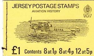 Jersey 1975 AVIATION HISTORY Booklet Perforated Mint (NH)